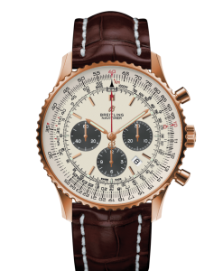 2  247x300 - Breitling Navitimer 1 B01 Chronograph 46 Red gold - Silver